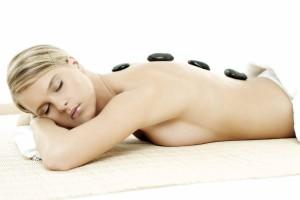 Hotstone massage billede