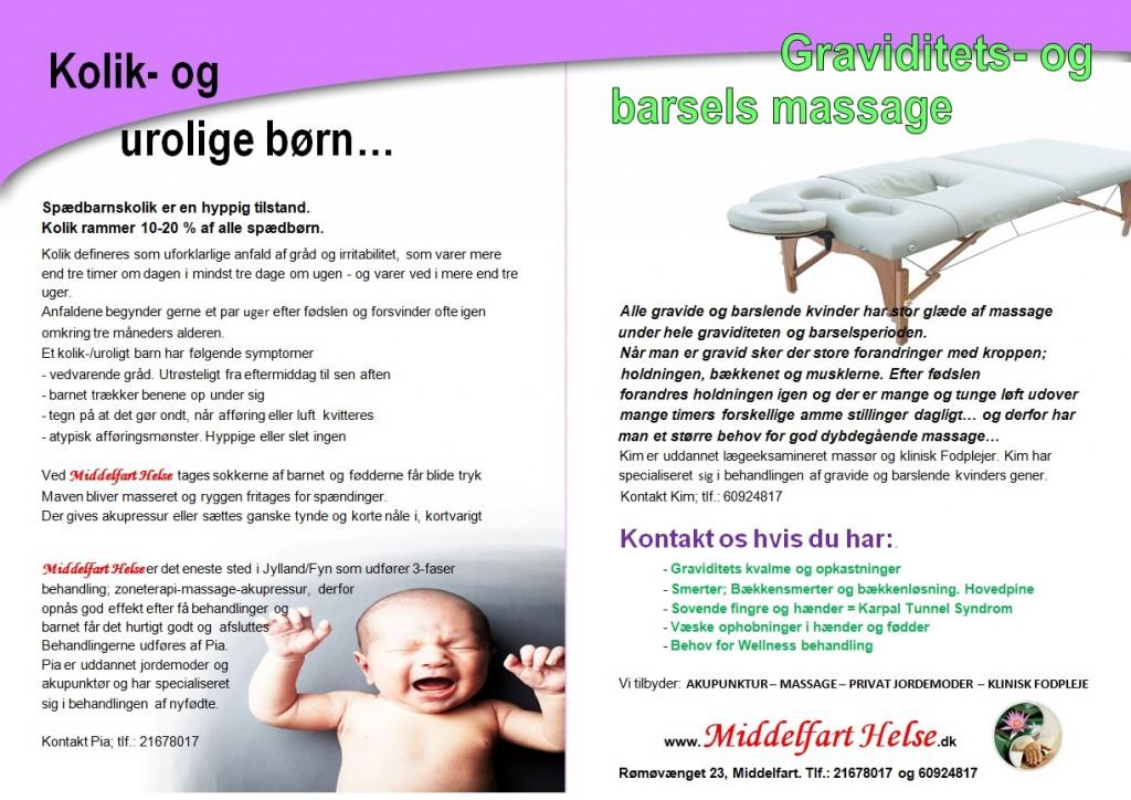 kolik- urolige - graviditet og barsel massage